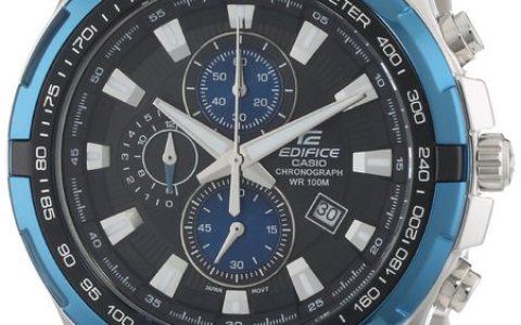 """时尚经典 Casio卡西欧 立体感超强的""""三眼""""式男士腕表EF539D-1A2"""