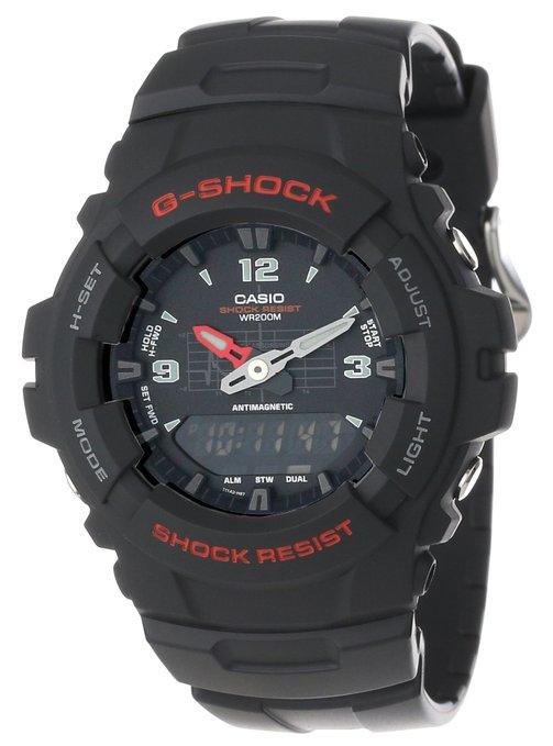 男表推荐:Casio卡西欧 G-Shock系列G100-1BV双显 男士腕表