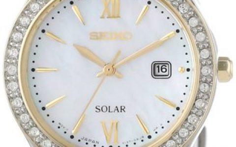 海淘女表推荐:Seiko精工女士镶钻太阳能腕表