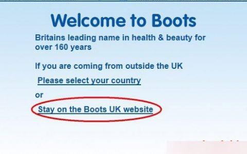 英国海淘教程:英国BOOTS网站海淘攻略教程