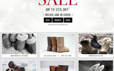 UGG官网正式开始Summer Sale,折扣力度Up to 30% OFF, 只限英国