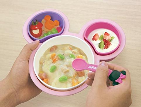 日本锦化成 单手可拿 婴儿辅食餐具套装
