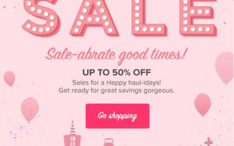 贝玲妃Sale up to 50%,英国小伙伴看过来