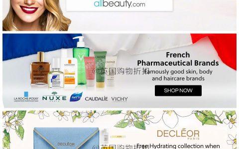 AllBeauty全站Up to 85% OFF,香水、彩妆、护肤品、美发等一镑起呀