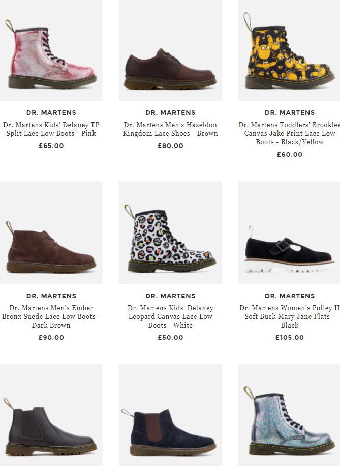 Dr. Martens马丁靴全线22% OFF,经典短靴,复古牛津鞋都有!