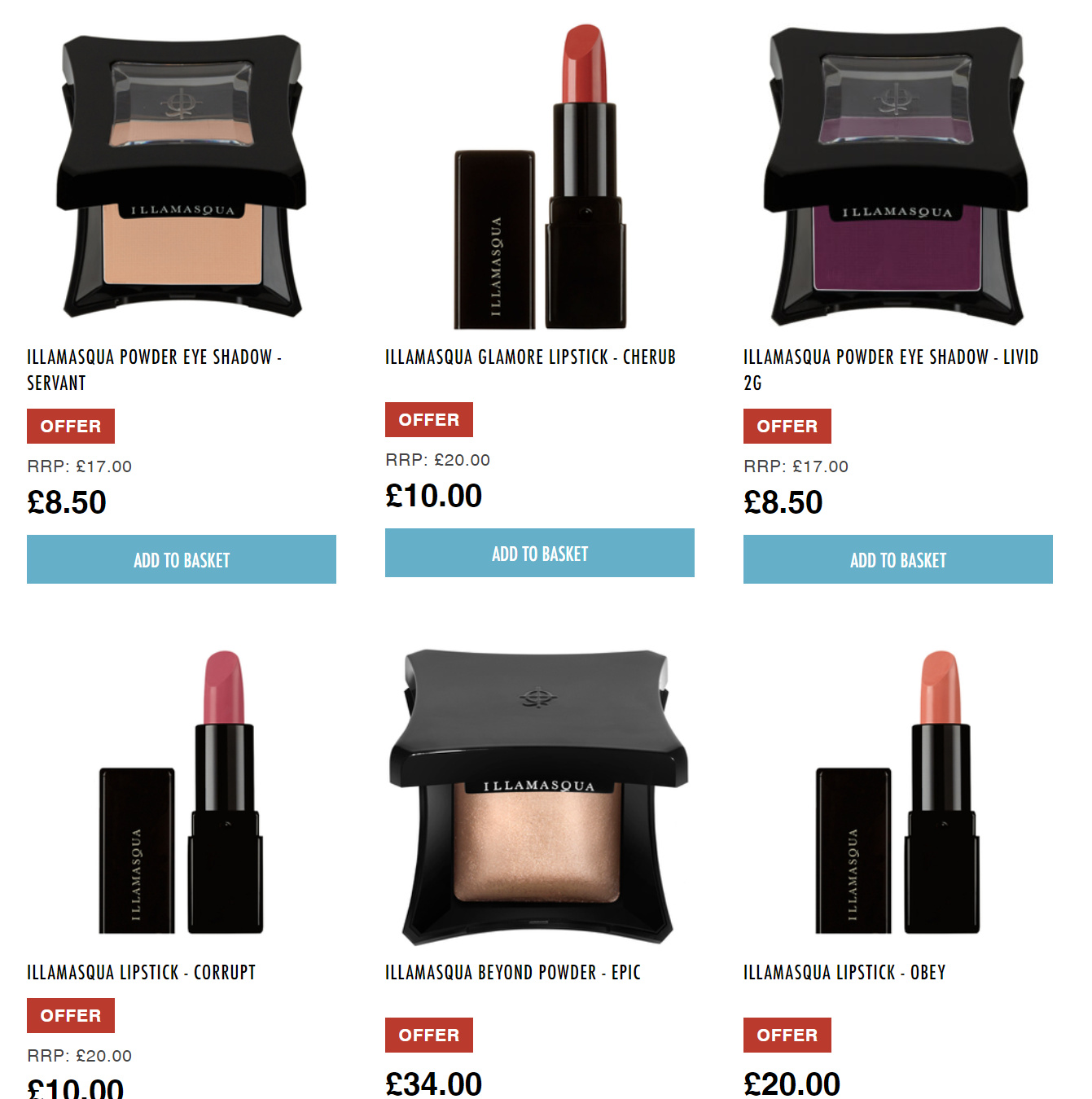 英国大师级彩妆Illamasqua 26%OFF, 还有限量美妆盒!