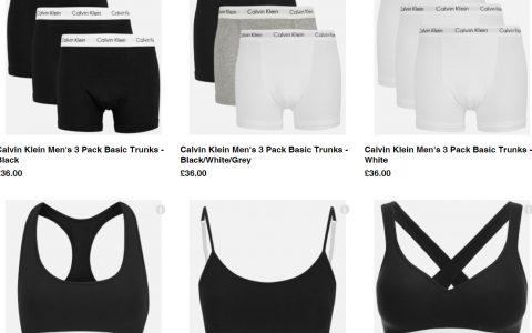 Calvin Klein多选内衣、内裤8折咯~