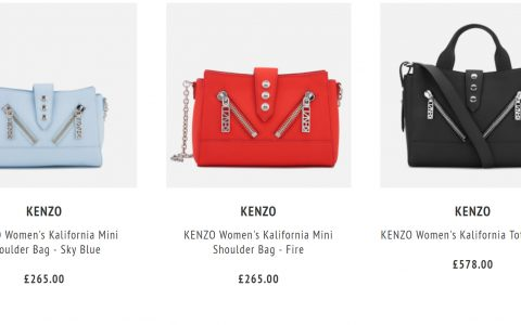 Kenzo超多虎头衫、鞋履及包款款25% OFF!
