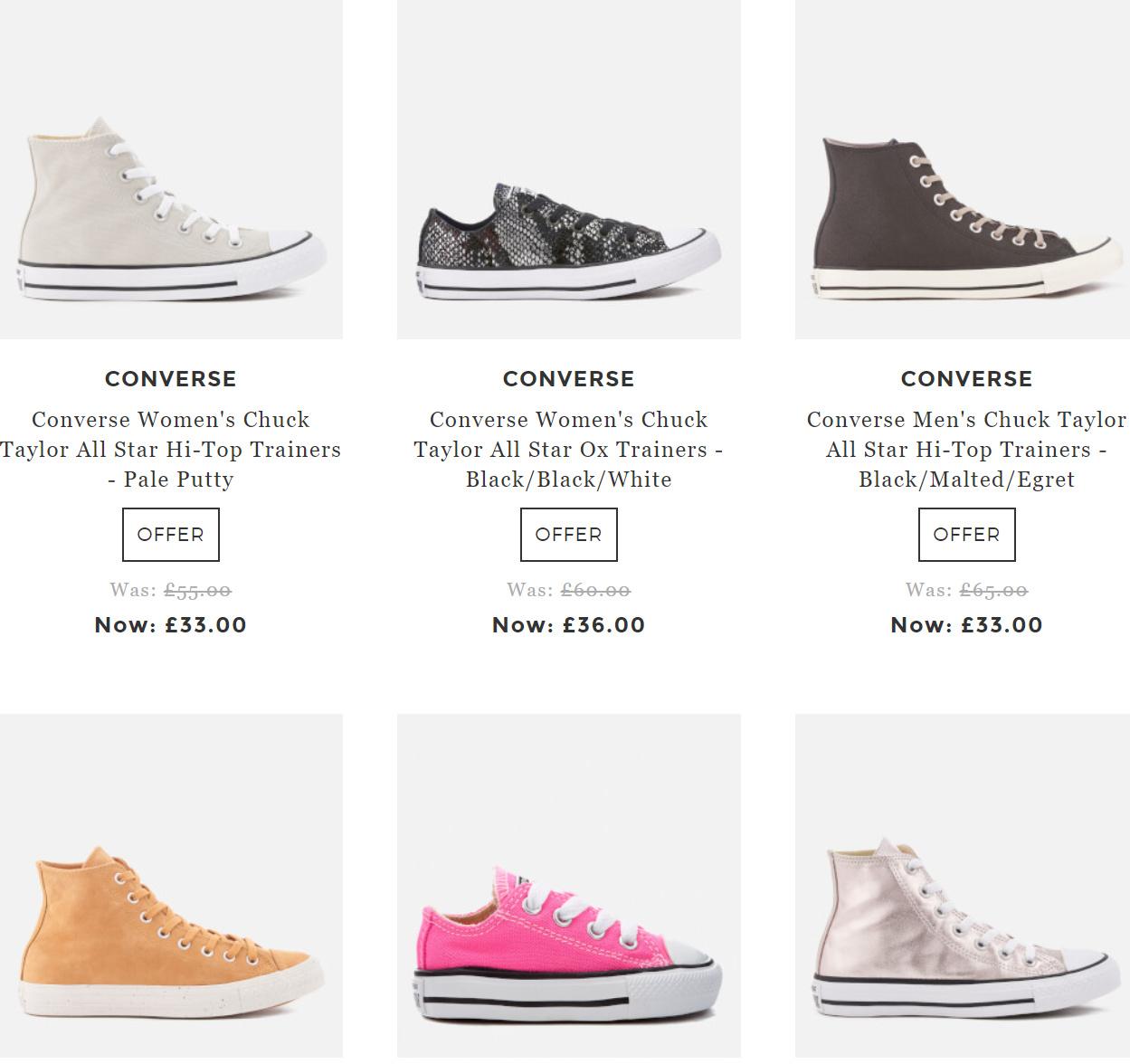 匡威Converse多款帆布鞋低至4折+7折