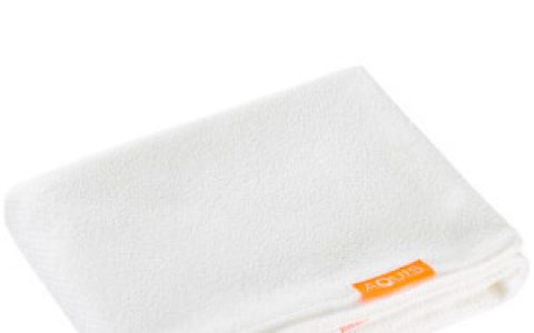 Aquis 干发巾,线上Aquis 85折+额外85折的折扣码:EXTRA15,温柔吸收水分,无需揉搓,Waffle款相比其他款吸水能力最强,减少毛躁和分叉,更易造型