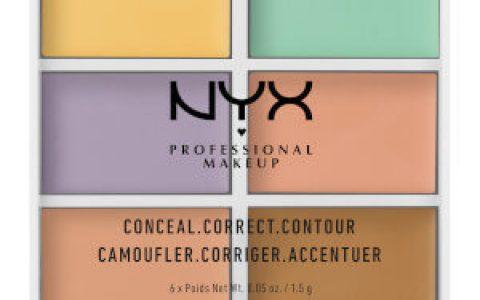 NYX六色修容遮瑕盘8折闪促,20% OFF的Code: WK20,满40镑全球免邮,可用支付宝