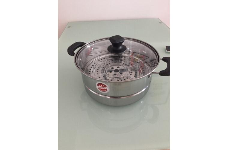 美厨(maxcook)蒸锅 不锈钢28cm单层蒸锅 加厚复合底 燃气炉电磁炉通用MCB28