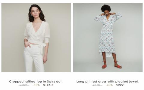 法国轻奢品牌Maje官网夏季pre-sale升级60%OFF