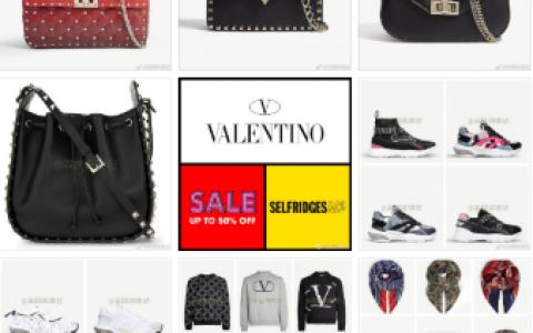 Valentino包包鞋子卫衣配饰等40% - 60% OFF!