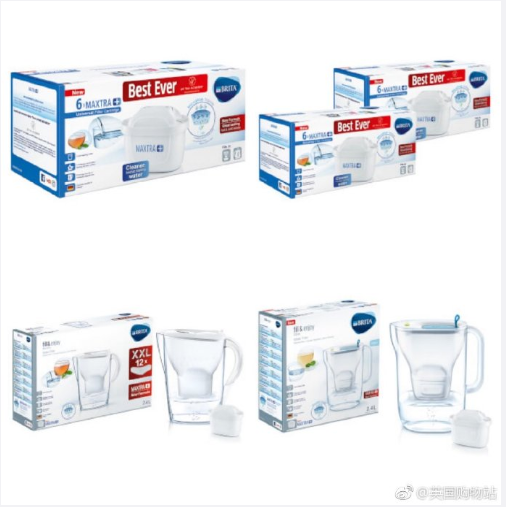 Brita过滤水壶、滤芯、便携过滤水杯等全线低至5折