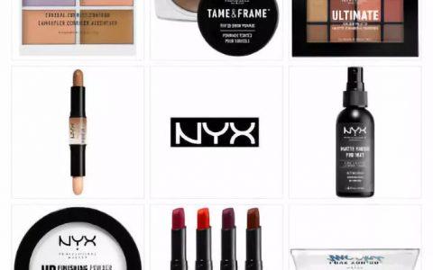 NYX全线67折+礼品,含六色修容遮瑕盘和眼影