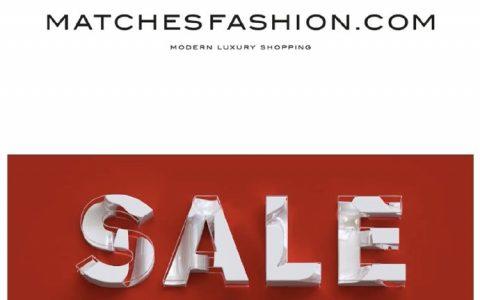 奢品名站Matches Sale低至5折 + 额外8折